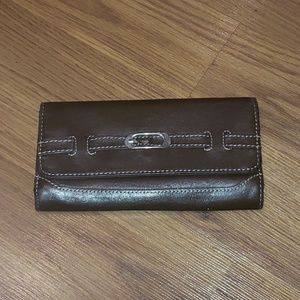 Brown leather wallet!